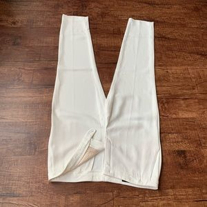 Escada off white 8(38) womens plain front trousers